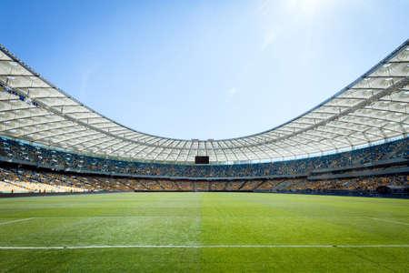 campo calcio: campo di calcio vuoto Archivio Fotografico