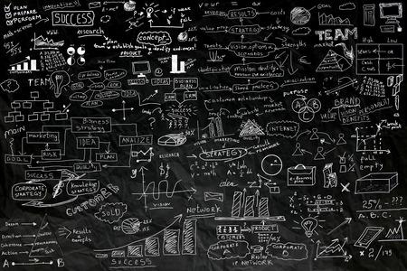 business idea concept on black paper