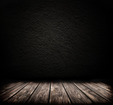 dark room: Dark room background with wooden floor