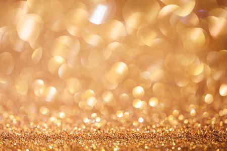 Golden Christmas shining Glitter Background