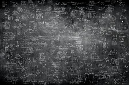 backboard: business idea concept on wall backboard blackground