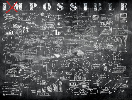 Impossible en business formule in de klas Stockfoto - 41304874