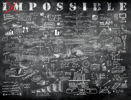 Impossible und Business-Formel in der Klasse Standard-Bild - 41304874