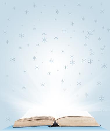 testaments: Open book magic  Education concept Stock Photo