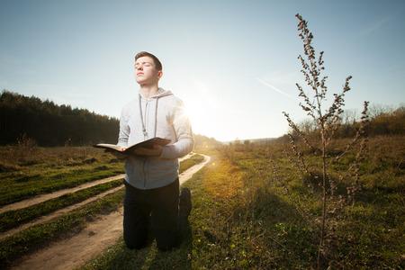 teenager praying