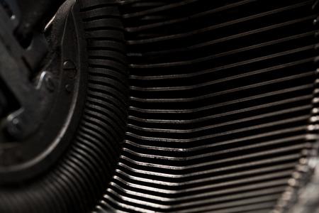 typebar: metal typewriter detail