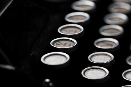 orthographic symbol: typewriter detail number Stock Photo