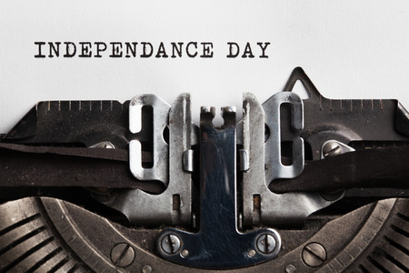 independance: independance day. typewriter with paper sheet. Space for your text