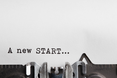 new beginning: new start and new life