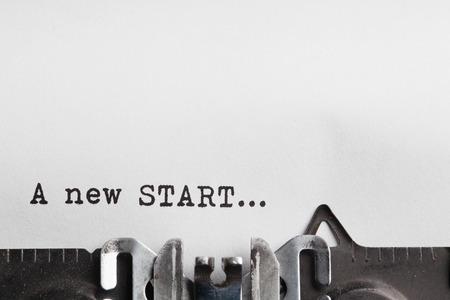 new beginning: new start and new life