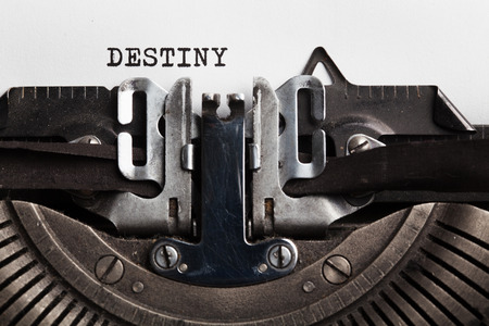 Destiny. typewriter with paper sheet. Space for your text Stock Photo