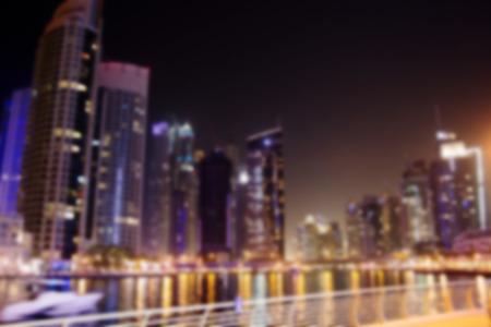 city night: modern blurred night city