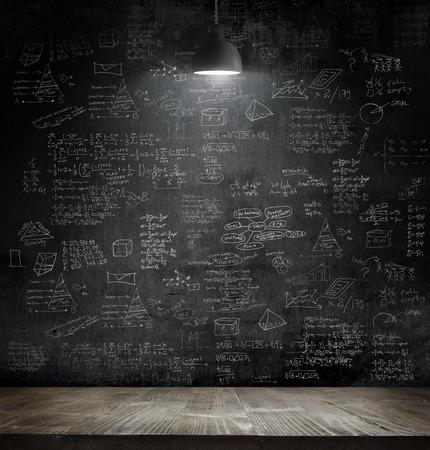 business idea concept on wall backboard blackground