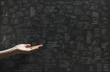 onderwijs: business plan en een hand
