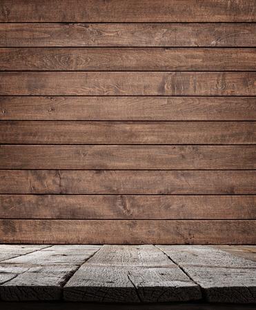 the shelf: Wood shelf, grunge industrial interior