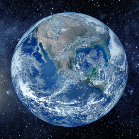 astrophotography: Planet earth from the space. Some elements of this image furnished by NASA Stock Photo