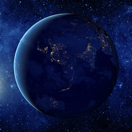 the universe: Planet earth from the space. Some elements of this image furnished by NASA Stock Photo