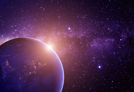 kosmos: Planeten Erde aus dem Weltraum.