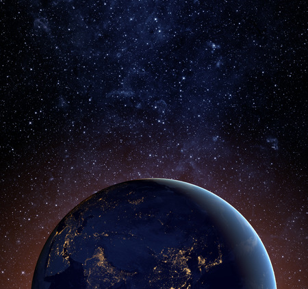 looks: Earth planet. Elements of this image furnished by NASA.