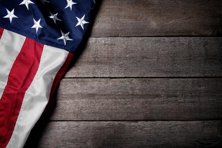Vlag van de VS op houten achtergrond