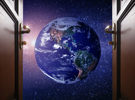 portals: room door to Planet earth from the space