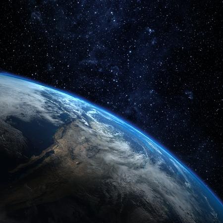 El planeta Tierra desde el espacio. Algunos elementos de esta imagen proporcionada por la NASA Foto de archivo - 49005455