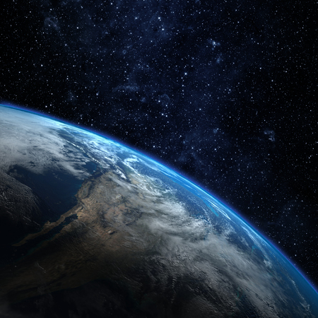 Planeet aarde vanuit de ruimte. Sommige elementen van deze afbeelding geleverd door NASA