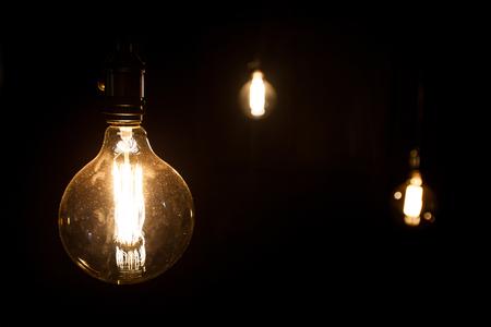 アンティーク エジソン スタイル電球 写真素材