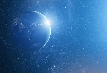 wasserstoff: Bild von Sternen und ein Planet in der Galaxie. Lizenzfreie Bilder