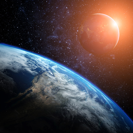 Pianeta terra dallo spazio.