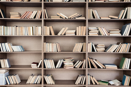 shelf: Book shelf with many books