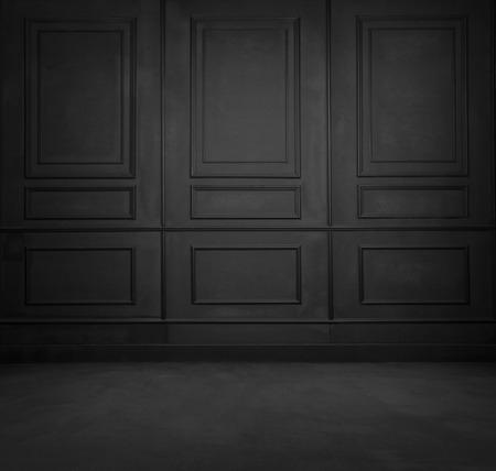 interior design: Black room interior design Stock Photo