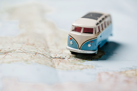 Travelling by car concept