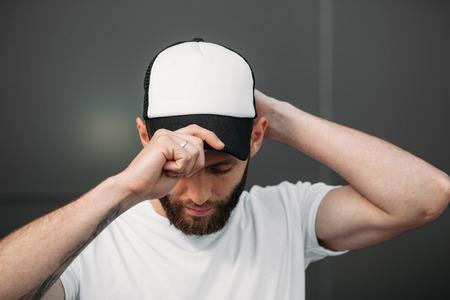 Baseball cap empty mock up 写真素材