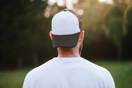 Baseball cap empty mock up 스톡 콘텐츠