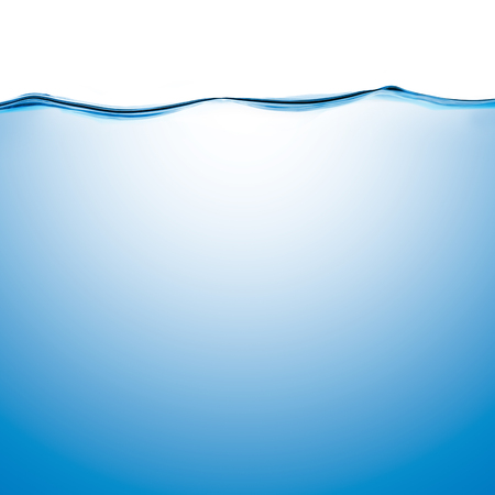 fluidity: Water surface level isolated on white