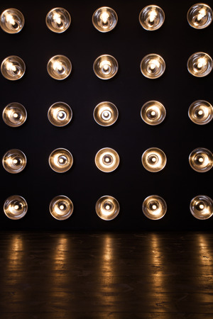 lamp light: Interior with light bulbs and a floor Stock Photo