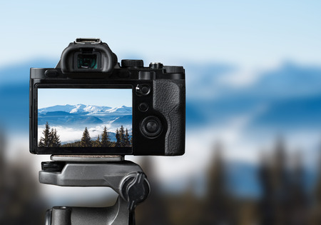 nature photo: taking photo of the nature with dslr camera