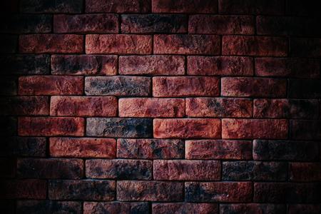cemento: Pared de ladrillo rojo textura