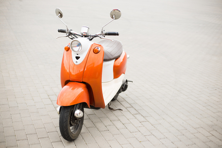 Retro Scooter on the city streets