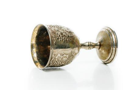 Old retro jewish silver  vine cup