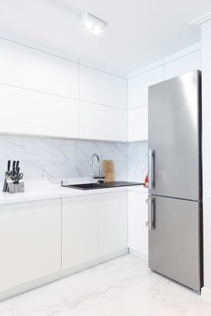 Kitchen fridge in modern room