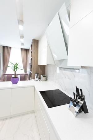 Modern minimalist sink in a kitchen room