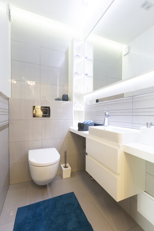 Toilet room or WC. Modern interior design Stock Photo