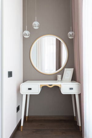 Boudoir room with mirror for make up