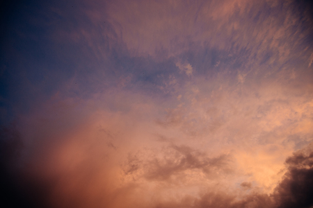 Colorful dramatic sky background