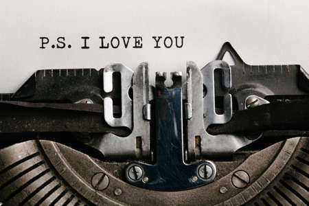I love you written by a typewriter