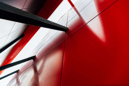 Abstract architecture metal elements. Modern geometric pattern. Architectural engineering structure 版權商用圖片