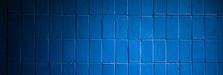Deep blue vintage tile background 版權商用圖片