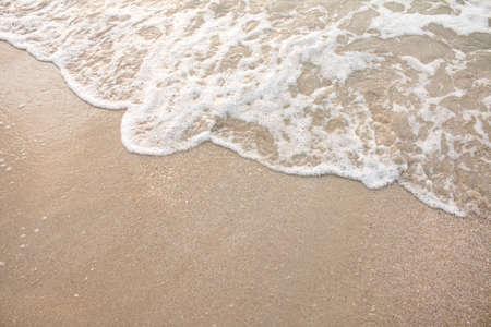 sea wave: Sea wave on the sandy beach.